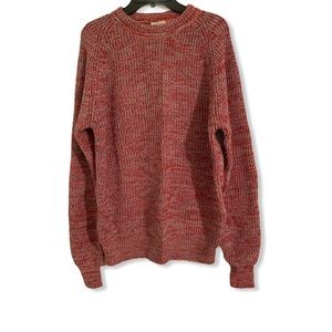 Vintage 80s knit red grunge sweater size large